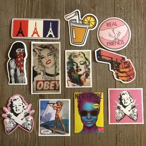 New 11 strong women/ girly themed stickers